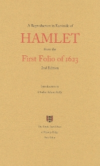 Shakespeare's HAMLET—The First Folio of 1623 in Facsimile
